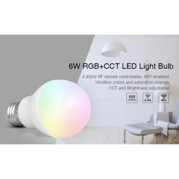 Mi-Light Lampadina Led E27 6W RGB+CCT WiFi FUT014