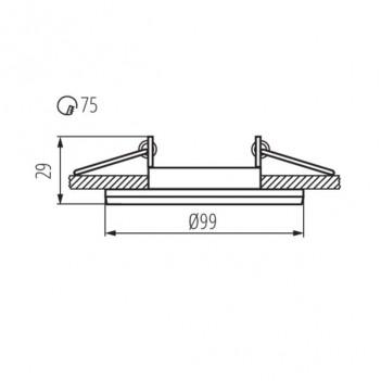 Ghiera Orientabile Foro 75mm per Faretto Led GU10 o MR16 -