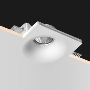 Conical Square Led Wall Light in Ceramic Plaster for Recessed
