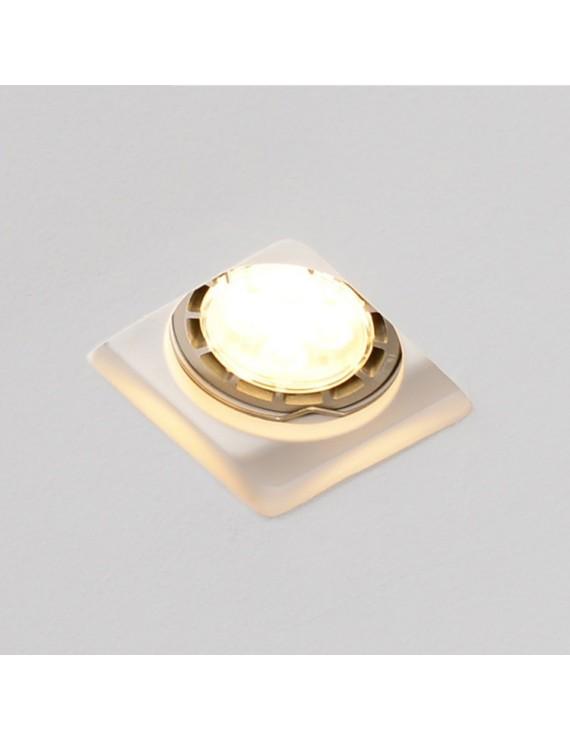 Slim Square Led Wall Light in Ceramic Plaster for Recessed