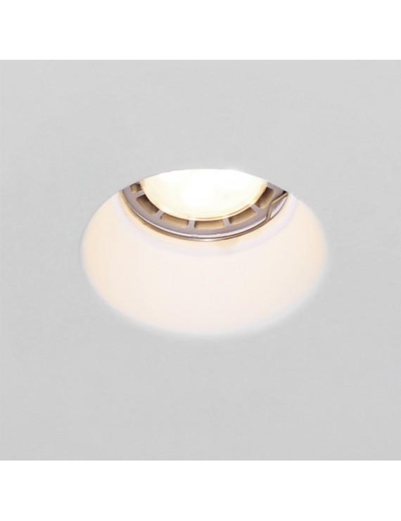 Recessed Ceiling Light in Ceramic Plaster 2132 Round Deep for