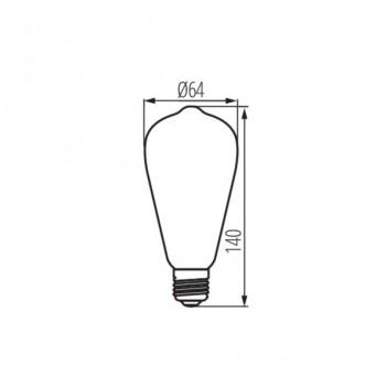 Kanlux Lampadina Led Filamento E27 5W 1800K 270lm Diametro 64mm