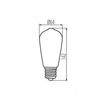 Kanlux Lampadina Led Filamento E27 7W 725lm 2500K Diametro 64mm