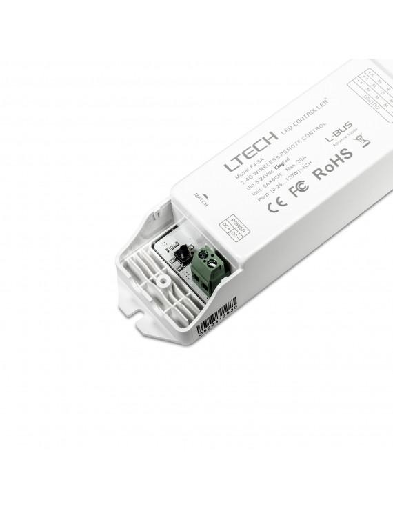 LTECH Ricevitore F4-5A DC 5-24V 4 Canali 20A