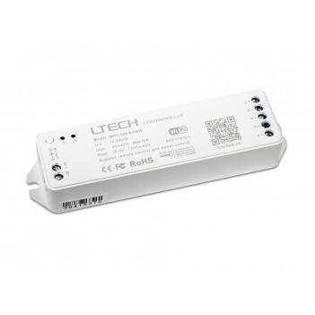 LTECH Ricevitore WiFi-102-RGBW 4 Ch DC 12-24V 12A per Striscia