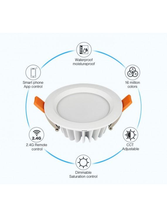 Mi-Light Recessed Ceiling Light 6W RGB+CCT IP54 WiFi FUT063