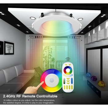 Mi-Light Recessed Ceiling Light 6W RGB+CCT WiFi FUT068 95mm Hole