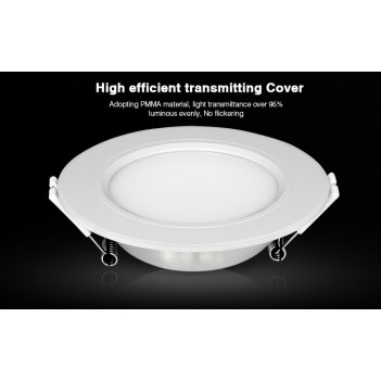 Mi-Light Plafoniera da Incasso 6W RGB+CCT WiFi FUT068 Foro 95mm