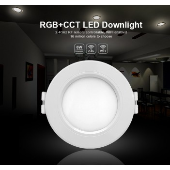 Mi-Light Plafoniera da Incasso 6W RGB+CCT WiFi FUT068 Foro 95mm