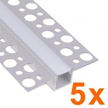 5x Profili in Alluminio da Cartongesso 2 metri (10mt) - Modello