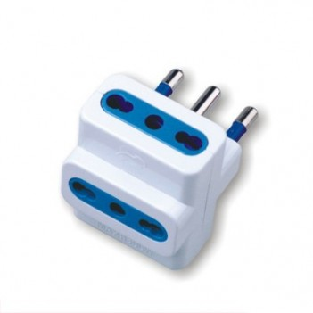 3-Seater Bypass Adapter 16A Plug