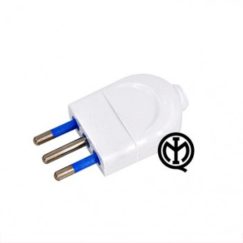 Plug 10A 2P + T Polybag White - Without cable