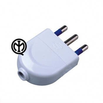 Plug 16A 2P + T Polybag White - Without cable