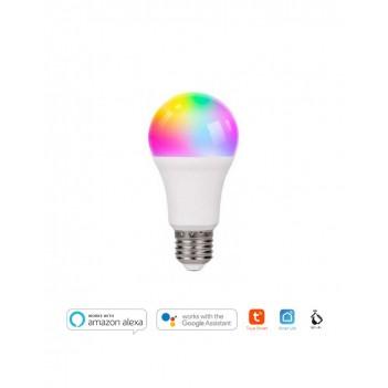 KiWi Smart WiFi Led Bulb A60 E27 9W 800lm RGB + W - Compatible