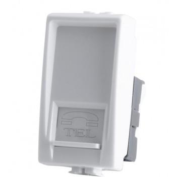 Connettore RJ11 Telefono 1 Modulo Bianco - Serie Tix