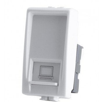 Connettore UTP RJ45 Plug 8-8 1 Modulo Bianco - Internet LAN -
