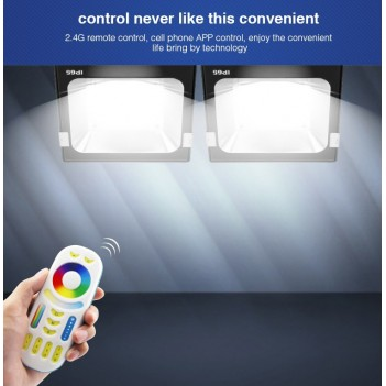 Mi-Light Proiettore Faro Led 50W RGB+CCT WiFi FUTT02