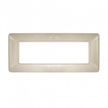 Placca 6 Moduli 6M Color Sabbia compatibile BTICINO MATIX in plastica