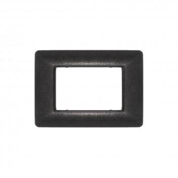 Placca 3 Moduli 3M Nero Flash compatibile BTICINO MATIX in plastica