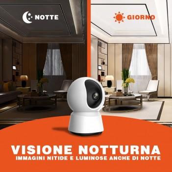 Telecamera di sicurezza Wi-fi Speed 12S Visione a 360° Pan&Tilt con visione notturna automatica