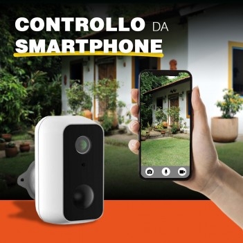 Telecamera di sicurezza Wi-fi Snap 11S impermeabile a batteria