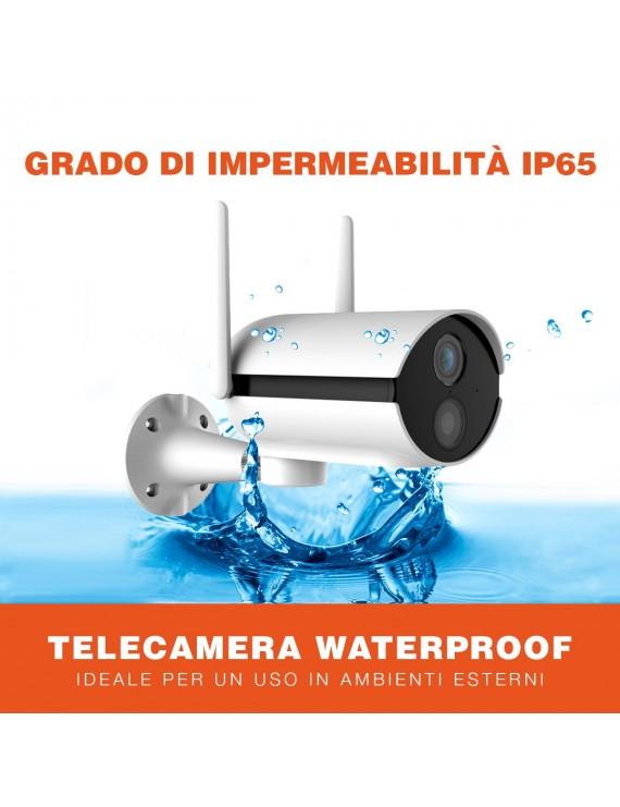 Telecamera video sorveglianza Wi-fi SPEED 11S impermeabile