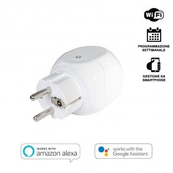Presa Shuko Smart WiFi 16A compatibile con Alexa, Google e