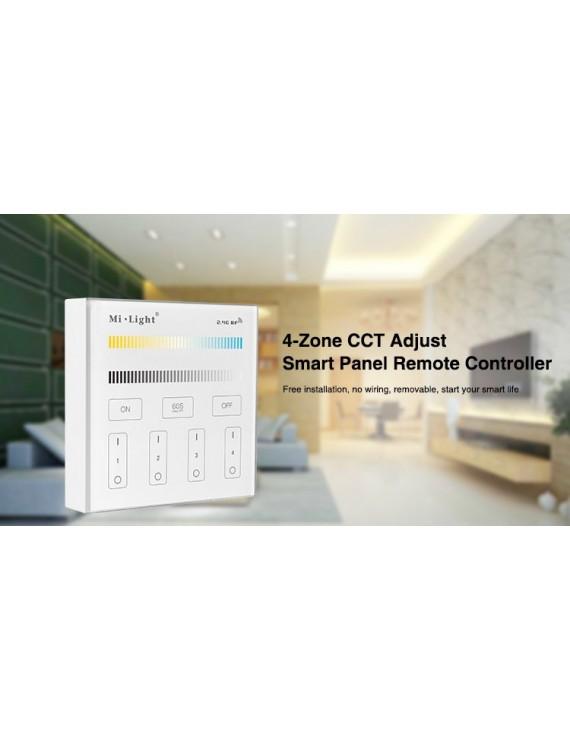 Mi-Light Wall Panel WiFi Dual White CCT Dimmer 4 Zone Full