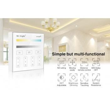Mi-Light Telecomando da Muro WiFi Dual White CCT Dimmer 4 Zone