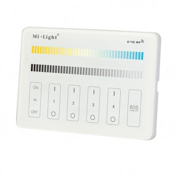 Mi-Light Wall Panel WiFi CCT 4 Zone Full Touch M2