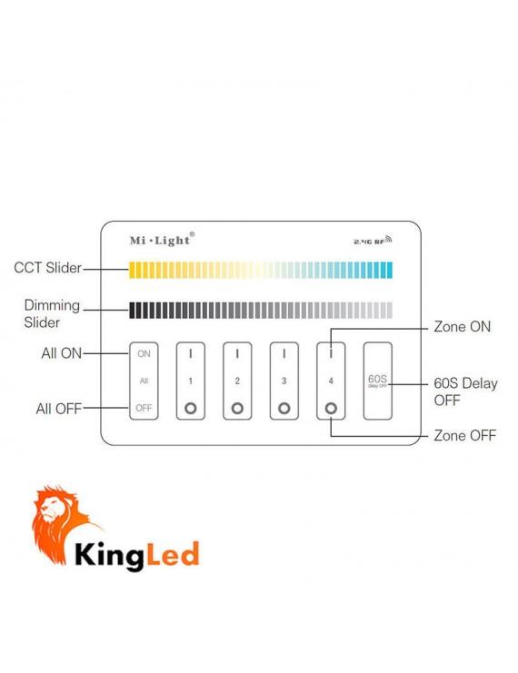 Mi-Light Wall Panel WiFi CCT 4 Zone Full Touch M2