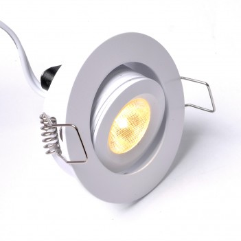Puntoluce Led 3W 240lm 30D DC 12V da Incasso Foro 41mm IP52 -