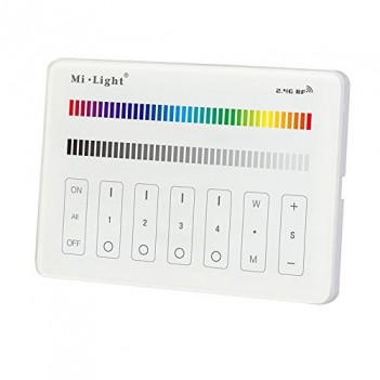 Mi-Light Wall Remote WiFi RGB RGB+W 4 Zones Full Touch M3