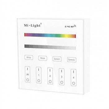 Mi-Light Telecomando da Muro WiFi RGB+W 4 Zone Full Touch B3