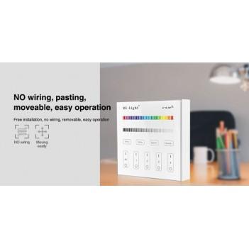 Mi-Light Telecomando da Muro WiFi RGB+W 4 Zone Full Touch B3