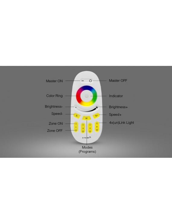 Mi-Light WiFi Remote Controller RGB RGB+W 4 Zone Full Touch