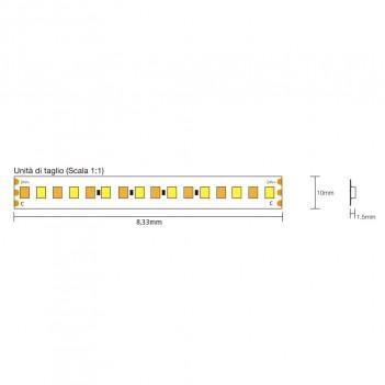 Striscia Led 24V 140W CCT Kelvin Variabile da 2700k - 6000k