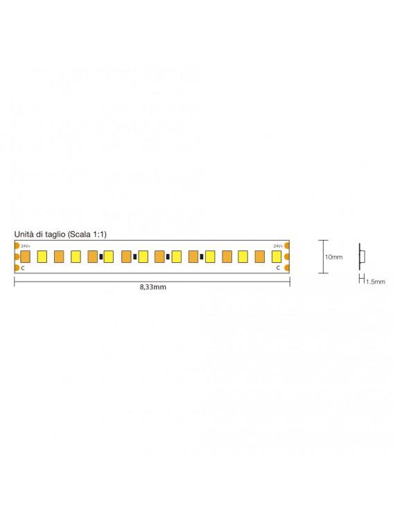 Tira LED 24V 140W CCT Variable Kelvin 2700k - 6000k IP20 5mt