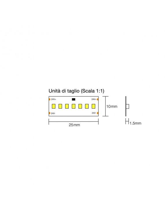 Striscia Led Serie H.C. 100W 10500lm 24V IP20 PCB 10mm Bobina