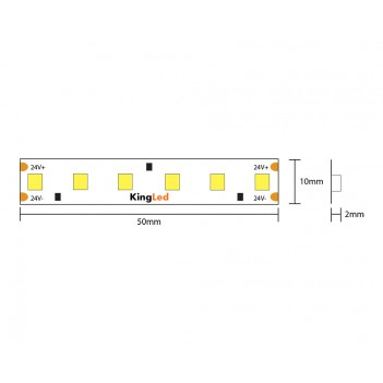 Led Strip H.C. Series 90W 9000LM 24V IP20 PCB 10mm 600 SMD Reel