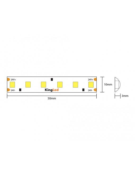 Led Strip H.C. Series 90W 9000lm 24V IP65 PCB 10mm 600 SMD Reel