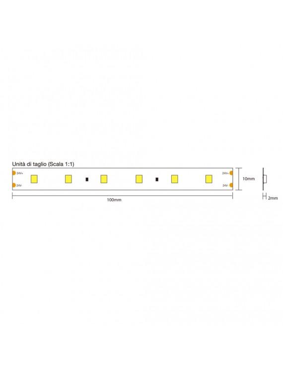 Striscia Led Serie H.C. CRI97 72W 4500LM 24V IP20 PCB 10mm