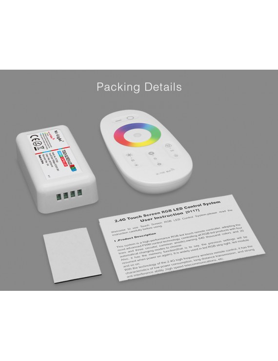 Mi-Light Kit Telecomando e Ricevitore RGB 10A 12/24V FUT025