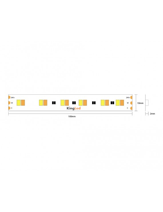 Led Strip 24V 90W CCT Variable Kelvin 1800k - 3000k IP20 5mt