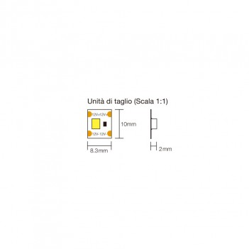 Single Cut Led Strip 120W 12000lm 24V IP20 PCB 10mm 600 SMD