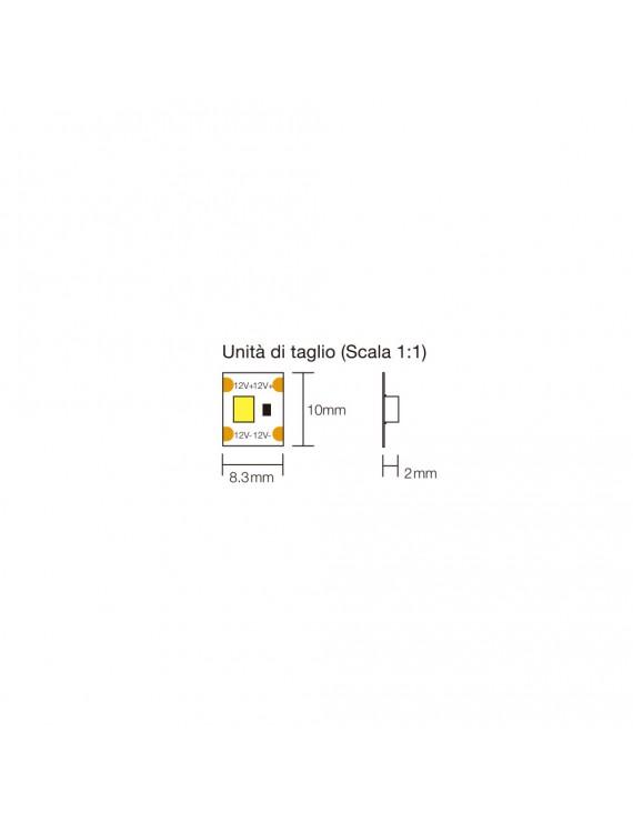 Striscia Led Singolo Taglio 120W 12000lm 24V IP20 PCB 10mm