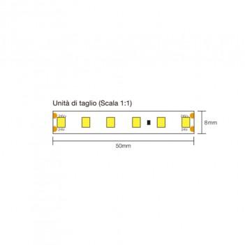 Striscia Led 72W 8000lm 24V IP67 PCB 10mm Bobina da 600 Smd