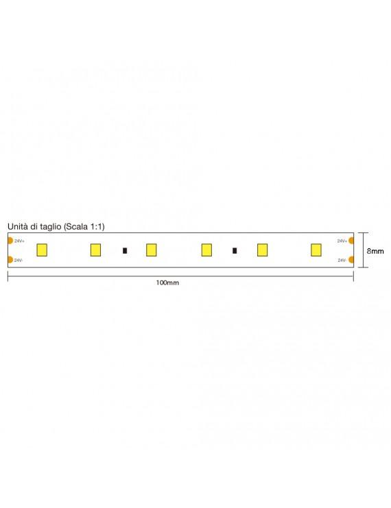 Tira LED 36W 4000lm 24V IP20 PCB 8mm 300 SMD Reel 2835 Samsung