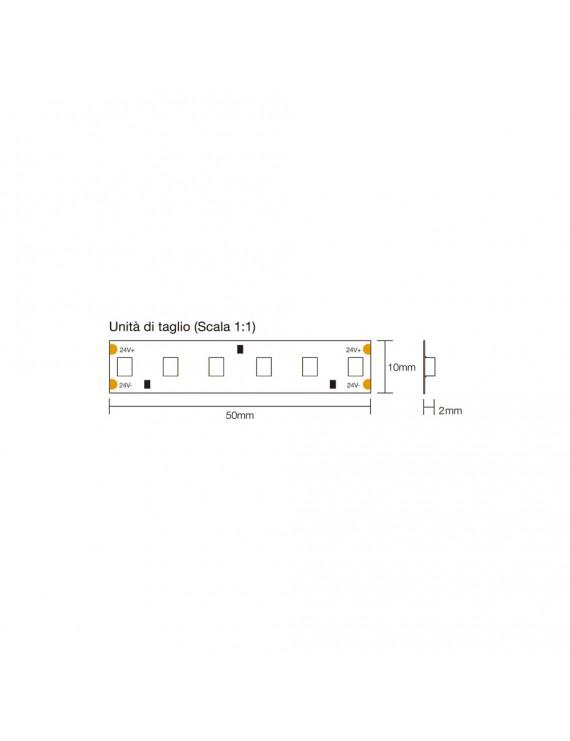 Striscia Led 90W 1800lm/mt 24V IP20 PCB 10mm Bobina da 600 SMD
