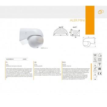 Sensore di Movimento e Crepuscolare Rilevamento 8MT Potenza Max